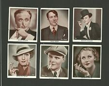 Smoking Famous Celebrity Promotion Female and Male Actors Fab Card Collection