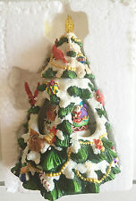 San Francisco Music Box Company Christmas With Santa Revolving Tree  Collectible