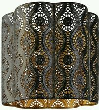 Beautiful Dark Chocolate Brown Moroccan Cut work Ceiling Shade Light  Pendant