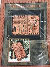 The Book Of Spells Halloween Cross Stitch Goode Huswife Pattern Retired HTF