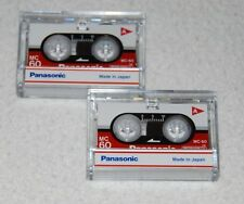 2 Panasonic MC-60 Micro Cassette Tape For Answer Machine, Dictation Recorder NEW