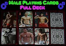 Male Playing Cards, hot guy playing cards, dude, hunk, jock, twink, gay gift abs