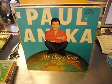 Paul Anka My Heart Sings vinyl LP VG+ ABC Paramount Under Paris Skies