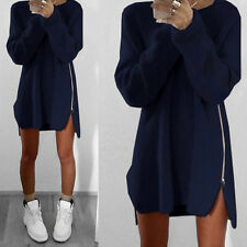 Women Long Sleeve Asymmetric Loose Baggy Boho Dress Casual Jumper Blouse Top Tee