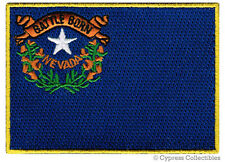 NEVADA STATE FLAG PATCH EMBROIDERED IRON-ON new APPLIQUE EMBLEM NV