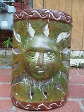 MEXICAN HANDMADE   WALL LIGHT  CLAY  POTTERY   OF MOON
