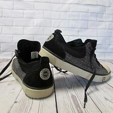 UGG Australia Womens Sneakers Size 9 Evera 1798 Fabric Suede Black Lace Up Shoes