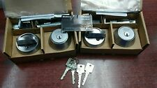 QTY.2  New Medeco M3 deadbolts keyed alike with 4 Keys and Duplication Carx