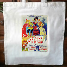Vintage French advert retro cotton cream tote bag No2