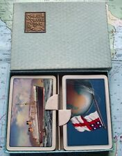 Twin Box c1960 Saville Shaw Shipping Line Playing Cards