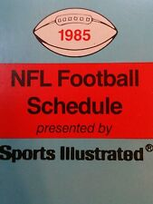 NFL 1985 sports illustrated schedule