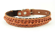 Handmade Genuine Leather Dog Collar Pet Puppy Durable Small Large Breeds Strong