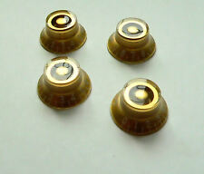 Gold Skirted/Top Hat Speed Knob for Gibson and other Les Paul guitars set of 4