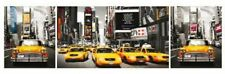 ART POSTER New York Taxis Tryptich