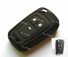 Black Protecting Bag Silicone Remote Key Case Cover For Chevrolet Cruze Aveo 3B