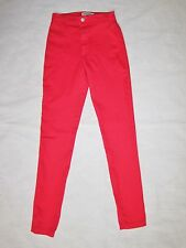 American Apparel High Waist Easy Jean sz XS Valentines RED stretch 0 24 25