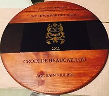 "Artisan Lazy Susan 2nd Growth Ducru Beaucaillou Wine Panel 20 1/2"" w/Bearing"