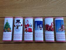 50 Personalised CHRISTMAS Chocolate Bar Wrappers Favours Posted 1st Class