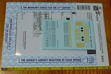 Microscale Decal N #60-1470 U.S. Army, Airforce, & Dept. of Defense (DODX) Loco