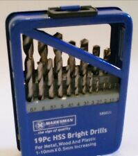 DRILL BIT SET HIGH SPEED STEEL BRIGHT METAL WOOD CORDLESS OR MAINS LONG LIFE
