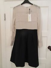 Karen Millen Pintuck Lace Contrast Dress - New With Tags - UK 8 - RRP £190