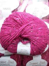 10 x 50g debbie bliss de luxe tweed aran ombre 21 fuchsia
