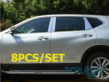 Fit for 15 nissan Rogue Stainless Steel Window Chrome Pillar Posts Trim X-Trail