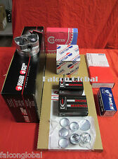 Chevy 350 Performer Engine Kit Pistons+MOLY Rings 1980-85 bearings head bolts++