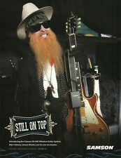 ZZ Top Billy Gibbons Samson Concert 99 UHF Wireless guitar system 8 x 11 ad