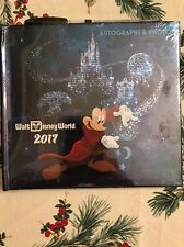 Disney 2017 Walt Disney World Sorcerer Mickey Autograph Book And Pen New