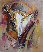 Roger LERSY (1920-2004) HsT 1962 La Harpe Nle Ecole de Paris Jeune Peinture