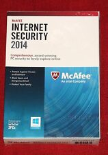 (NEW, SEALED) McAfee Internet Security 2014 (FREE Upgrade to 2017) 3PC  1Year