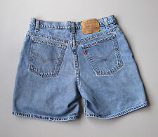 Vintage 90s Levis High Waisted Denim Mom Jean Shorts Blue 14 Relaxed 31""