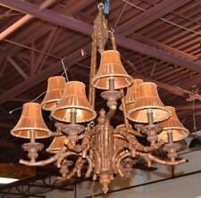 Faux Bamboo Hanging Chandelier Lot 179