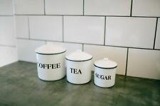 WHITE 3 PIECE KITCHEN CANISTER SET AS SEEN ON HDTV FIXER UPPER MAGNOLIA MARKET