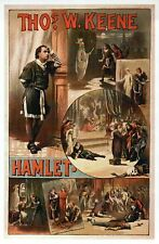 William Shakespeare Hamlet Theatre Image, English Drama Play --- Modern Postcard