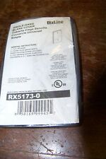 new bizline rx5173-0 single gang blank cover