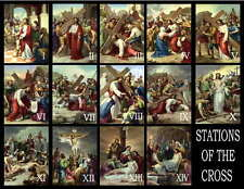 STATIONS OF THE CROSS PHOTO-FRIDGE MAGNETS 14 IMAGES
