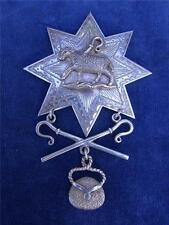 Large stunning Antique SILVER VICTORIAN  1889  LOYAL ORDER OF SHEPHERDS JEWEL