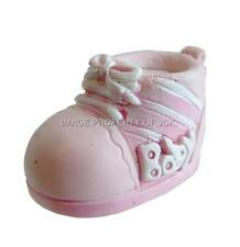 PINK & WHT BABY GIRLS BOOTIE CHRISTENING NEW BABY SHOWER CAKE TOPPER DECORATION