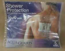 AQUA GUARD SHOWER PROTECTION Self Adhesive Latex Free MOISTURE BARRIER 5 Sheets
