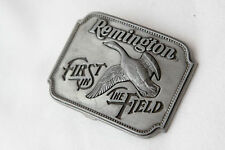 VINTAGE 1980 **REMINGTON FIRST IN THE FIELD** CANADA GOOSE BELT BUCKLE NICE!