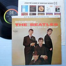 Introducing the BEATLES U.S STEREO title back Vee Jay  2nd version VG+  sm1