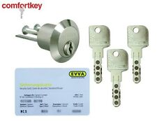 Evva MCS The Best High Security Rim Cylinder grade 6,2! 3keys   sec. card