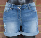 NEXT WOMEN LADIES PALE DENIM SLOUCHY BOY FIT SHORTS SIZES 10 TO 20