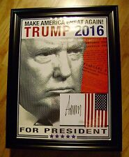 Donald J Trump POSTER Signed Authentic Comes W/COA + Will Pass PSA