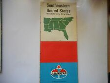 ancienne carte routière usa southeastern United States road map