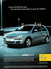 Publicité Advertising 2004  Nouvelle OPEL CORSA.COM