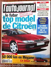 b)L'AUTO-JOURNAL du 02/1996; La futur top modèl de citroen/ 50000 Km en Mégane
