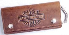 """Harley-Davidson Geldbeutel """"RIDER"""" braun groß mit Kette *BW404H* Wildleder"""